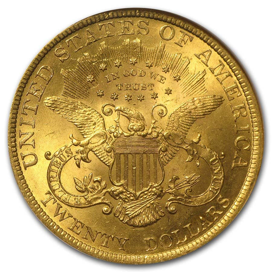 $20 Gold Liberty Double Eagle - MS-63 NGC